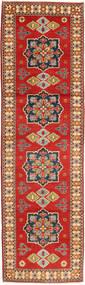 Kazak Matta 81X290 Äkta Orientalisk Handknuten Hallmatta Roströd/Ljusbrun (Ull, Pakistan)