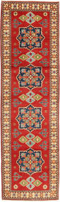 Kazak Rug 81X290 Authentic Oriental Handknotted Hallway Runner Rust Red/Light Brown (Wool, Pakistan)