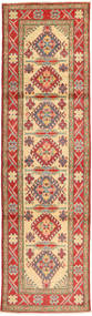 Kazak Rug 87X312 Authentic  Oriental Handknotted Hallway Runner  Light Brown/Rust Red (Wool, Pakistan)