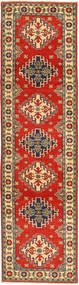 Kazak Rug 82X311 Authentic  Oriental Handknotted Hallway Runner  Rust Red/Brown (Wool, Pakistan)