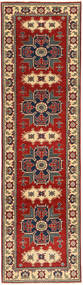 Kazak Rug 78X290 Authentic  Oriental Handknotted Hallway Runner  Dark Red/Dark Brown (Wool, Pakistan)