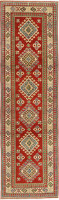 Kazak Rug 81X292 Authentic  Oriental Handknotted Hallway Runner  Dark Red/Light Brown (Wool, Pakistan)