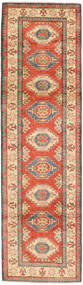 Kazak Rug 82X292 Authentic  Oriental Handknotted Hallway Runner  Orange/Light Brown (Wool, Pakistan)