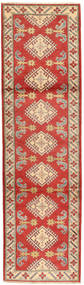 Kazak Rug 79X290 Authentic  Oriental Handknotted Hallway Runner  Rust Red/Light Brown (Wool, Pakistan)
