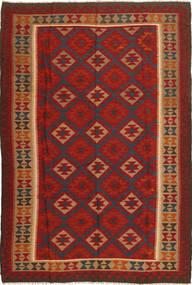 Kilim Maimane Rug 203X303 Authentic  Oriental Handwoven Rust Red/Dark Grey (Wool, Afghanistan)