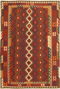 Kilim Maimane Rug 195X294 Authentic  Oriental Handwoven Rust Red/Dark Brown (Wool, Afghanistan)