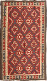 Kelim Maimane Matta 145X245 Äkta Orientalisk Handvävd Ljusbrun/Roströd (Ull, Afghanistan)