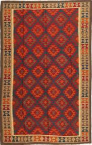 Kilim Maimane Rug 190X300 Authentic  Oriental Handwoven Dark Red/Dark Brown (Wool, Afghanistan)