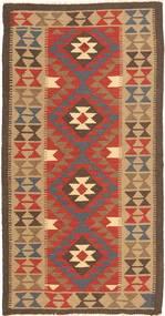 キリム マイマネ 絨毯 100X197 オリエンタル 手織り 茶/薄茶色 (ウール, アフガニスタン)