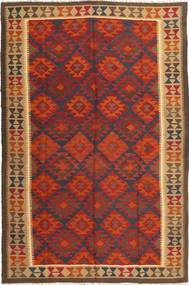 Kilim Maimane Rug 198X298 Authentic  Oriental Handwoven Dark Red/Dark Brown (Wool, Afghanistan)