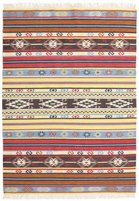 Kilim - Navaja - Navaja Rug 170X240 Authentic  Modern Handwoven Beige/Black ( India)