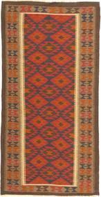 Kilim Maimane Rug 100X202 Authentic Oriental Handwoven Brown/Light Brown/Orange (Wool, Afghanistan)