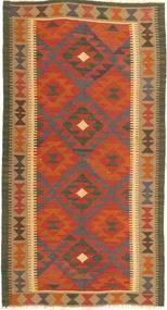 Килим Маимане Ковер 98X188 Сотканный Вручную Оранжевый/Светло-Коричневый/Коричневый/Темно-Серый (Шерсть, Афганистан)
