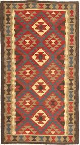 Kilim Maimane Rug 100X190 Authentic Oriental Handwoven Light Brown/Crimson Red (Wool, Afghanistan)