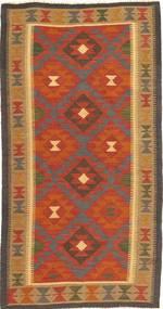 Kelim Maimane Teppe 102X194 Ekte Orientalsk Håndvevd Lysbrun/Orange (Ull, Afghanistan)