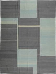 Kilim Modern Rug 217X287 Authentic  Modern Handknotted Dark Grey/Light Grey (Wool, Afghanistan)