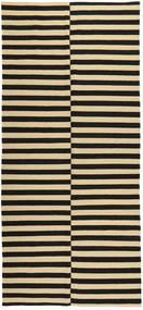 Kelim Moderni Matto 168X372 Moderni Käsinsolmittu Käytävämatto Tummanharmaa/Keltainen (Villa, Afganistan)