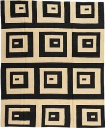 Kelim Moderne Tæppe 185X225 Ægte Moderne Håndknyttet Sort/Beige (Uld, Afghanistan)