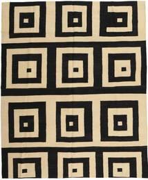 キリム モダン 絨毯 187X222 モダン 手織り 黒/暗めのベージュ色の (ウール, アフガニスタン)