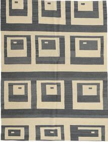 Kelim Moderne Teppe 149X196 Ekte Moderne Håndknyttet Mørk Grå/Mørk Beige (Ull, Afghanistan)