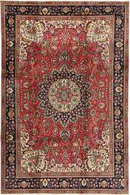 Tabriz Rug 200X304 Authentic  Oriental Handknotted Dark Red/Dark Brown (Wool, Persia/Iran)