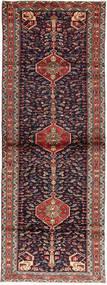 Hosseinabad Dywan 90X267 Orientalny Tkany Ręcznie Chodnik Ciemnoczerwony/Ciemnofioletowy (Wełna, Persja/Iran)