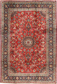 Mashad Rug 196X297 Authentic  Oriental Handknotted Rust Red/Brown (Wool, Persia/Iran)