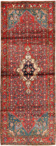 Hosseinabad Rug 110X303 Authentic Oriental Handknotted Hallway Runner Brown/Rust Red (Wool, Persia/Iran)