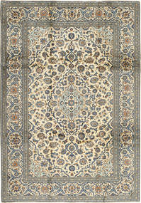 Keshan Rug 240X340 Authentic  Oriental Handknotted Dark Grey/Beige (Wool, Persia/Iran)