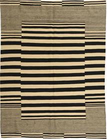 Kilim Modern Szőnyeg 173X232 Modern Csomózású Fekete/Sötét Bézs/Világosbarna (Gyapjú, Afganisztán)
