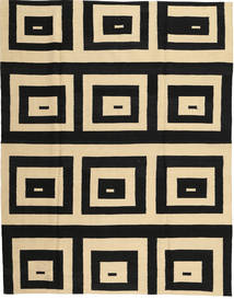 Kilim Modern Rug 180X225 Authentic  Modern Handknotted Black/Light Brown (Wool, Afghanistan)
