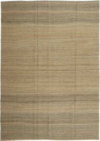 Kilim Modern Rug 201X285 Authentic  Modern Handknotted Light Brown (Wool, Afghanistan)