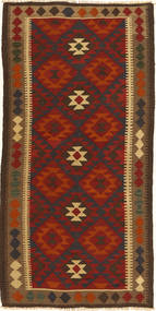 Kilim Maimane Rug 102X201 Authentic  Oriental Handwoven Rust Red/Dark Grey (Wool, Afghanistan)