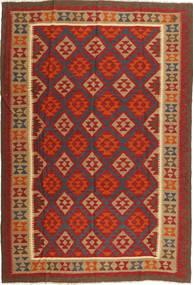 Kelim Maimane Teppe 199X295 Ekte Orientalsk Håndvevd Mørk Rød/Rust (Ull, Afghanistan)