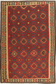 Kilim Maimane Rug 195X286 Authentic  Oriental Handwoven Dark Red/Light Brown (Wool, Afghanistan)
