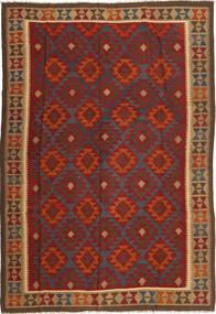 Kilim Maimane Rug 205X300 Authentic  Oriental Handwoven Dark Red/Brown (Wool, Afghanistan)