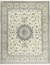 Nain 9La Sherkat Farsh Rug 243X316 Authentic  Oriental Handknotted Beige/Dark Grey (Wool/Silk, Persia/Iran)