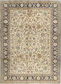 Qum Kork/Silk Rug 260X360 Authentic  Oriental Handknotted Light Brown/Beige Large (Wool, Persia/Iran)