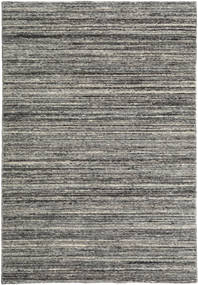 Mazic - Tummanharmaa Matto 120X180 Moderni Käsinsolmittu Tummanharmaa/Vaaleanharmaa (Villa, Intia)