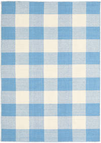 Check Kilim Rug 120X180 Authentic  Modern Handwoven Light Blue/Beige (Wool, India)