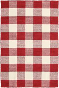 Check Kilim - Czerwony/White Dywan 120X180 Nowoczesny Tkany Ręcznie Beżowy/Ciemnoczerwony (Wełna, Indie)
