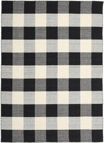 Check Kilim - Black/White Rug 240X340 Authentic  Modern Handwoven Black/Light Grey/Beige (Wool, India)