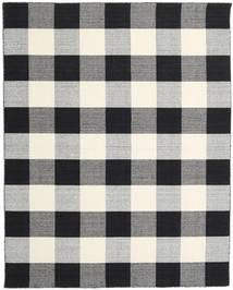 Check Kilim - Noir/Blanc Tapis 240X300 Moderne Tissé À La Main Gris Clair/Violet Foncé/Beige (Laine, Inde)