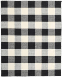 Check Kilim - 黒/白 絨毯 240X300 モダン 手織り 薄い灰色/濃い紫/ベージュ (ウール, インド)
