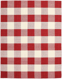 Check Kilim - Red/White Rug 240X300 Authentic  Modern Handwoven Crimson Red/Beige (Wool, India)
