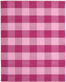 Check Kilim Rug 240X300 Authentic  Modern Handwoven Pink/Light Pink (Wool, India)