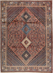 Yalameh Rug 252X349 Authentic  Oriental Handknotted Light Brown/Dark Blue Large (Wool, Persia/Iran)