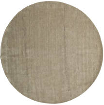 Handloom - Grey Rug Ø 300 Modern Round Light Brown/Olive Green Large (Wool, India)
