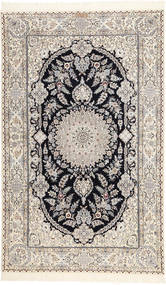 Nain 6La Habibian Rug 150X250 Authentic  Oriental Handknotted Light Grey/Beige (Wool/Silk, Persia/Iran)