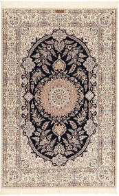 Nain 6La Habibian Rug 158X245 Authentic  Oriental Handknotted Light Grey/Beige (Wool/Silk, Persia/Iran)